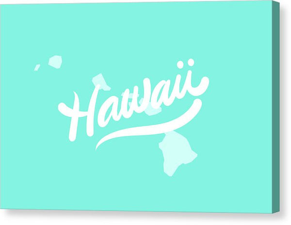 Colorful Hawaii State Shape Doodle - Canvas Print from Wallasso - The Wall Art Superstore