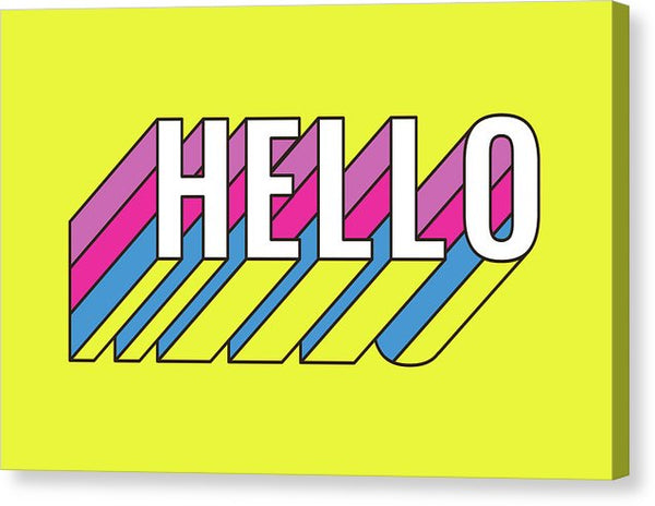Colorful Hello Greeting Font - Canvas Print from Wallasso - The Wall Art Superstore