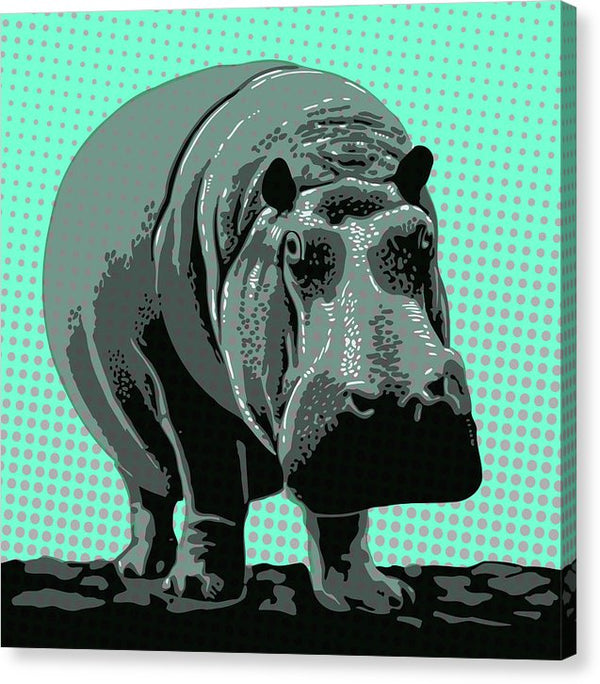Colorful Hippo - Canvas Print from Wallasso - The Wall Art Superstore