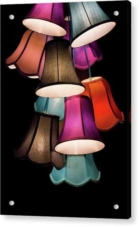 Colorful Lamp Shades - Acrylic Print from Wallasso - The Wall Art Superstore