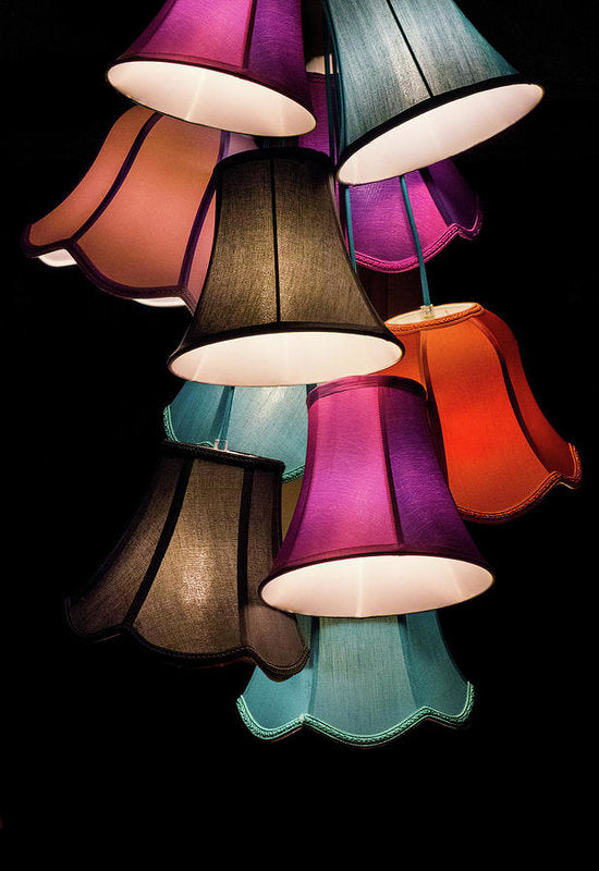 Colorful Lamp Shades - Art Print from Wallasso - The Wall Art Superstore