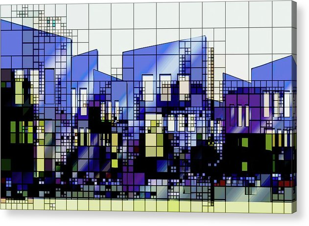 Colorful Modern Architecture Grid Design - Acrylic Print from Wallasso - The Wall Art Superstore
