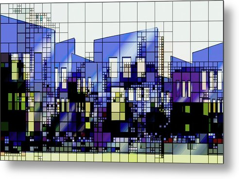 Colorful Modern Architecture Grid Design - Metal Print from Wallasso - The Wall Art Superstore