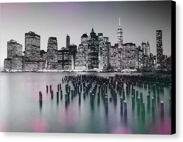 Colorful New York City Skyline - Canvas Print from Wallasso - The Wall Art Superstore