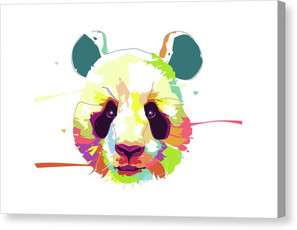 Colorful Pop Art Panda Head - Canvas Print from Wallasso - The Wall Art Superstore