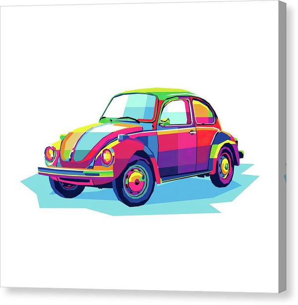 Colorful Pop Art Volkswagen Beetle - Canvas Print from Wallasso - The Wall Art Superstore