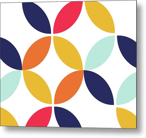 Colorful Retro Bauhaus Inspired Design - Metal Print from Wallasso - The Wall Art Superstore