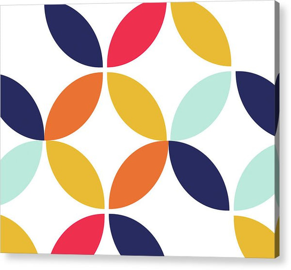 Colorful Retro Bauhaus Inspired Design - Acrylic Print from Wallasso - The Wall Art Superstore