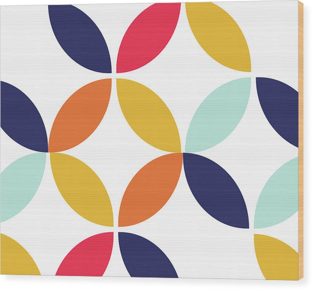 Colorful Retro Bauhaus Inspired Design - Wood Print from Wallasso - The Wall Art Superstore