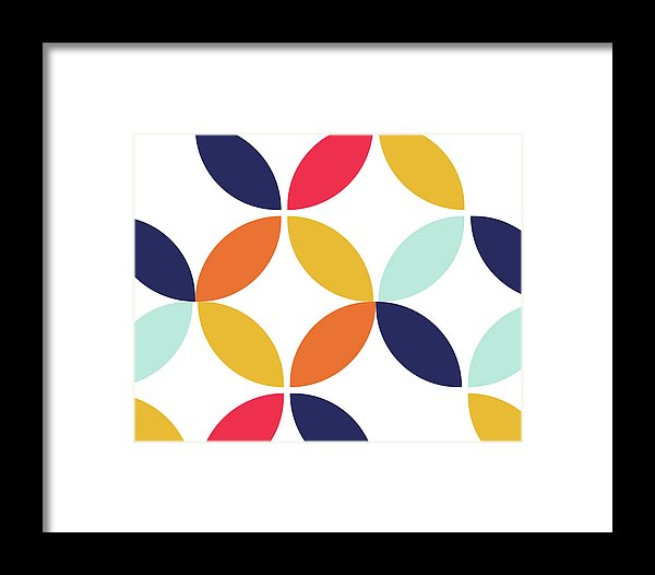 Colorful Retro Bauhaus Inspired Design - Framed Print from Wallasso - The Wall Art Superstore