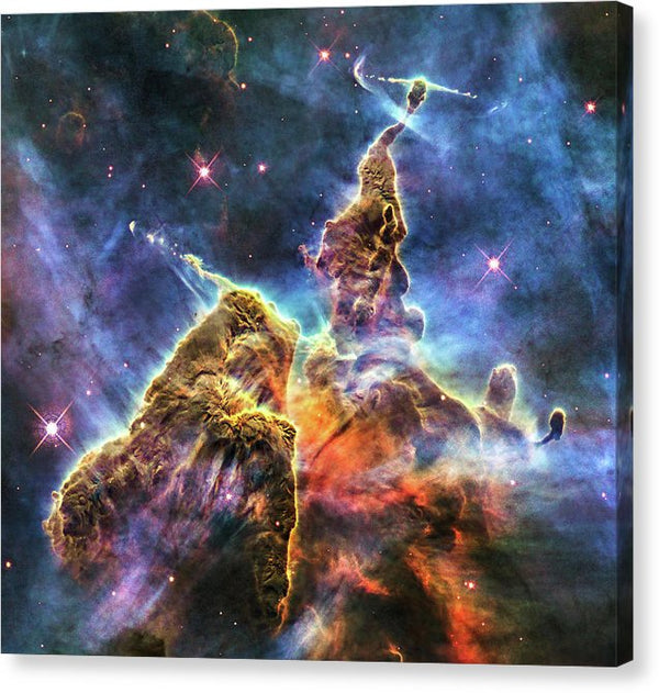 Colorful Space Nebula - Canvas Print from Wallasso - The Wall Art Superstore