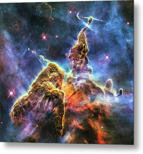 Colorful Space Nebula - Metal Print from Wallasso - The Wall Art Superstore
