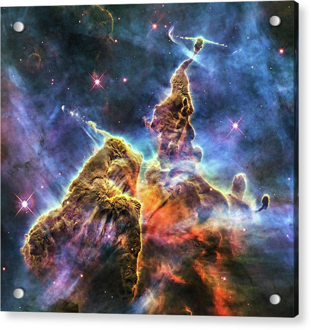 Colorful Space Nebula - Acrylic Print from Wallasso - The Wall Art Superstore