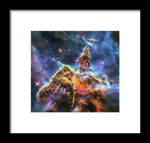 Colorful Space Nebula - Framed Print from Wallasso - The Wall Art Superstore