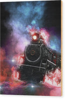 Colorful Steam Engine Railroad Design - Wood Print from Wallasso - The Wall Art Superstore