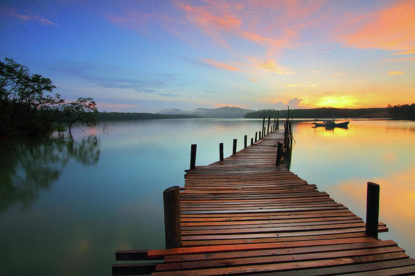 Colorful Sunrise Boardwalk - Art Print from Wallasso - The Wall Art Superstore