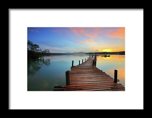 Colorful Sunrise Boardwalk - Framed Print from Wallasso - The Wall Art Superstore