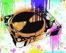 Colorful Turntable Street Art Graffiti Design, 3 of 3 Set - Art Print from Wallasso - The Wall Art Superstore