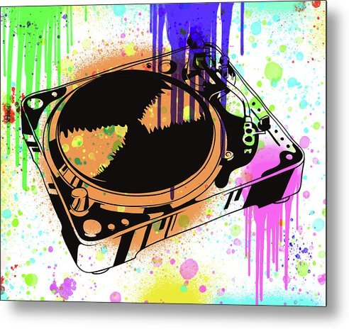 Colorful Turntable Street Art Graffiti Design, 3 of 3 Set - Metal Print from Wallasso - The Wall Art Superstore