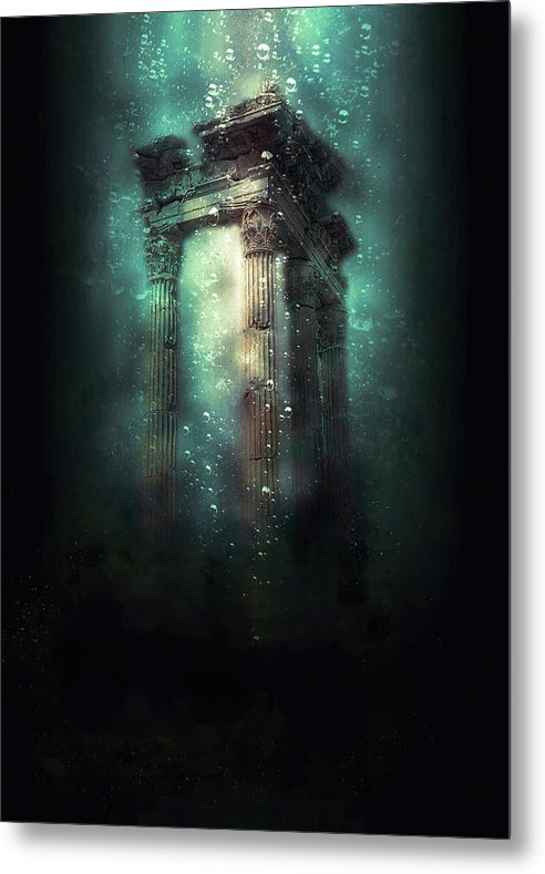 Colorful Underwater Column - Metal Print from Wallasso - The Wall Art Superstore