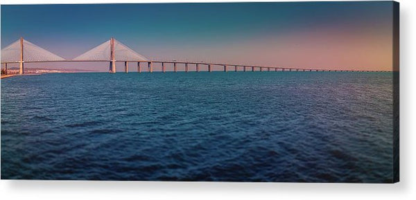 Colorful Vasco De Gama Bridge Panoramic - Acrylic Print from Wallasso - The Wall Art Superstore