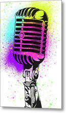 Colorful Vintage Microphone Street Art Graffiti Design - Metal Print from Wallasso - The Wall Art Superstore