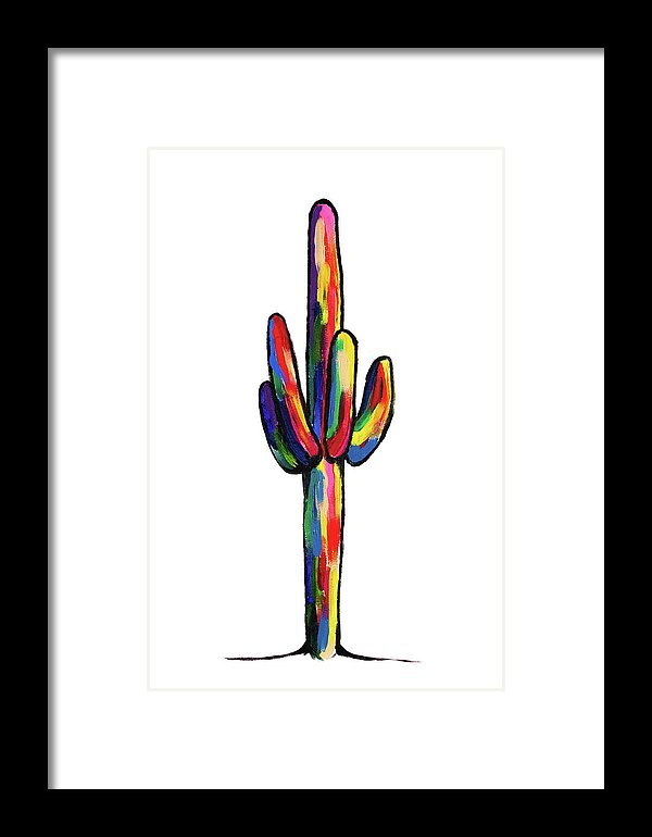 Colors of The Cactus by Jessica Contreras - Framed Print from Wallasso - The Wall Art Superstore