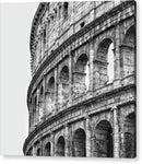 Colosseum Amphitheater In Rome, Black and White - Acrylic Print from Wallasso - The Wall Art Superstore
