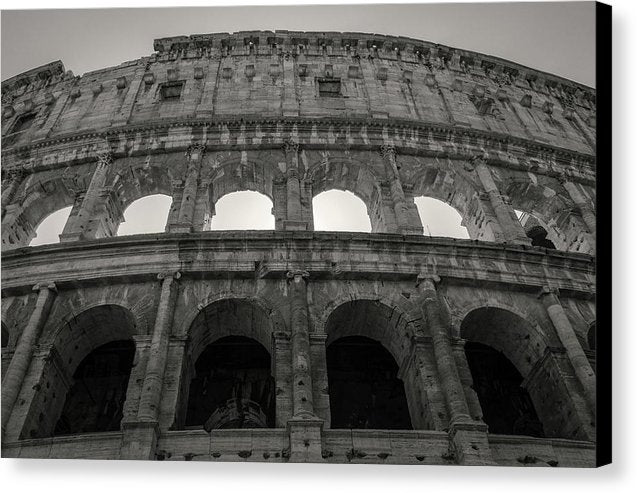 Colosseum Amphitheater In Rome Italy - Canvas Print from Wallasso - The Wall Art Superstore