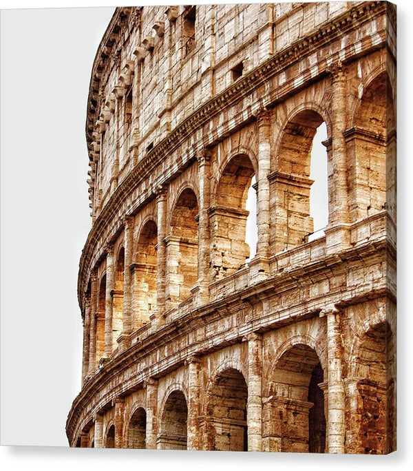 Colosseum Amphitheater In Rome - Canvas Print from Wallasso - The Wall Art Superstore