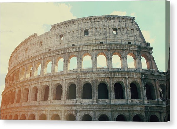 Colosseum In Rome Italy - Canvas Print from Wallasso - The Wall Art Superstore