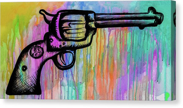 Colt 45 In Color by Jessica Contreras - Canvas Print from Wallasso - The Wall Art Superstore