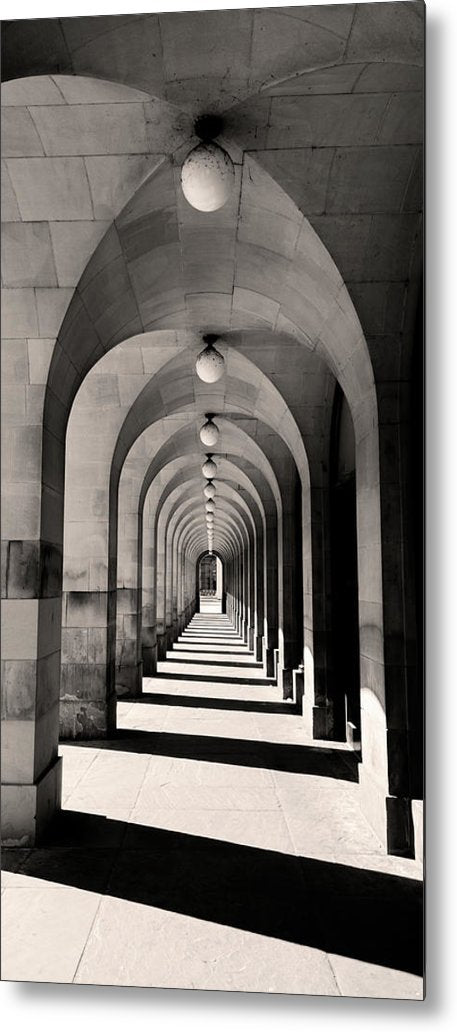 Concentric Walkway Arches - Metal Print from Wallasso - The Wall Art Superstore