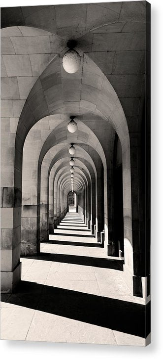 Concentric Walkway Arches - Acrylic Print from Wallasso - The Wall Art Superstore