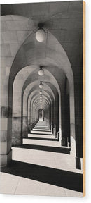 Concentric Walkway Arches - Wood Print from Wallasso - The Wall Art Superstore