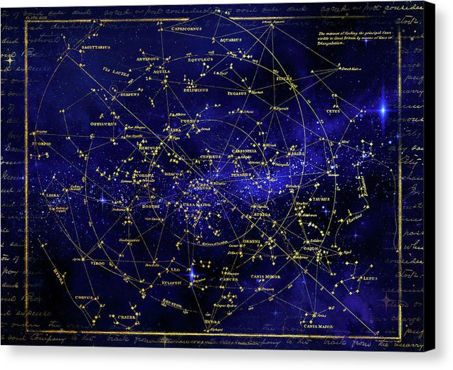 Constellation Star Map - Canvas Print from Wallasso - The Wall Art Superstore