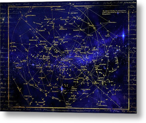 Constellation Star Map - Metal Print from Wallasso - The Wall Art Superstore