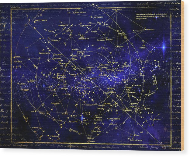 Constellation Star Map - Wood Print from Wallasso - The Wall Art Superstore