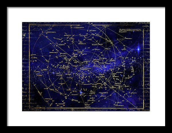 Constellation Star Map - Framed Print from Wallasso - The Wall Art Superstore