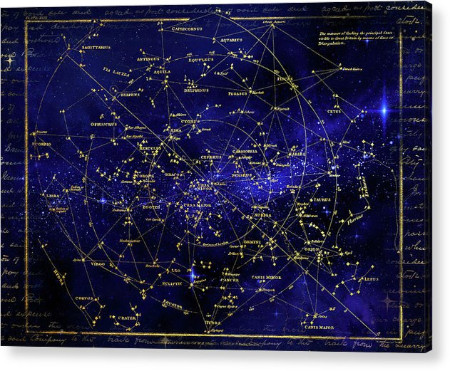 Constellation Star Map - Acrylic Print from Wallasso - The Wall Art Superstore