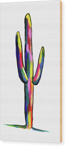 Contemporary Cactus by Jessica Contreras - Wood Print from Wallasso - The Wall Art Superstore