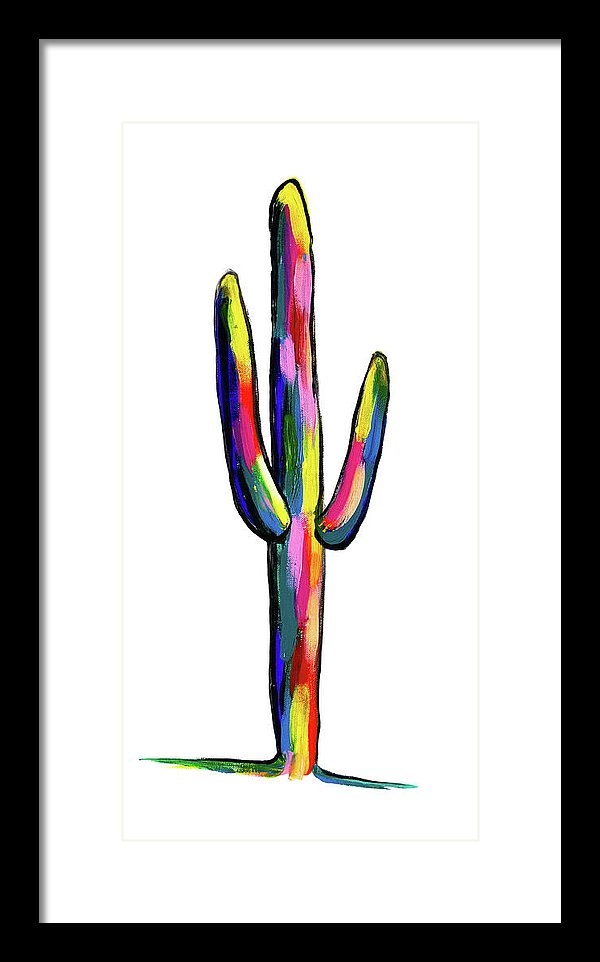 Contemporary Cactus by Jessica Contreras - Framed Print from Wallasso - The Wall Art Superstore