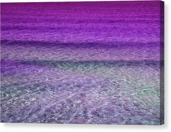 Contemporary Pink Ocean Waves - Canvas Print from Wallasso - The Wall Art Superstore
