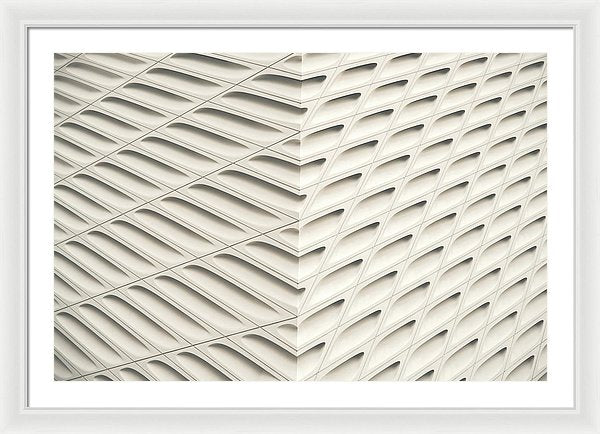 Cream Colored Abstract Pattern - Framed Print from Wallasso - The Wall Art Superstore