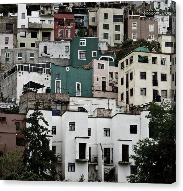Crowded Favela Neighborhood - Canvas Print from Wallasso - The Wall Art Superstore