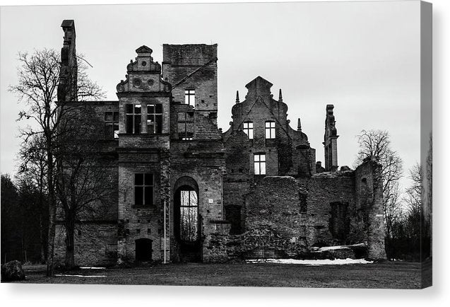 Crumbling Stone Mansion - Canvas Print from Wallasso - The Wall Art Superstore