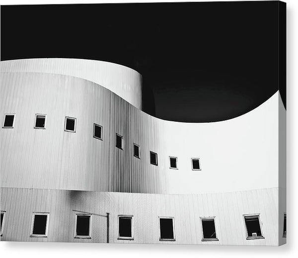 Curved Building Architecture - Canvas Print from Wallasso - The Wall Art Superstore