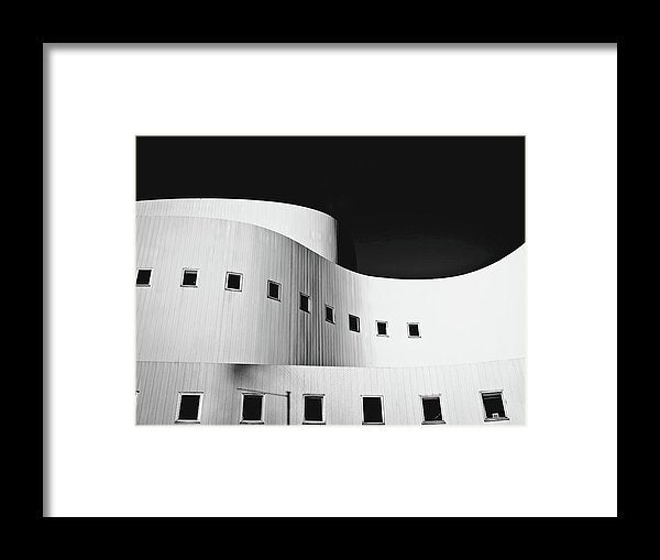 Curved Building Architecture - Framed Print from Wallasso - The Wall Art Superstore