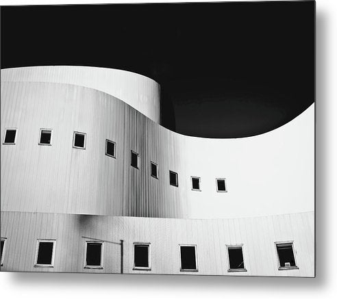 Curved Building Architecture - Metal Print from Wallasso - The Wall Art Superstore