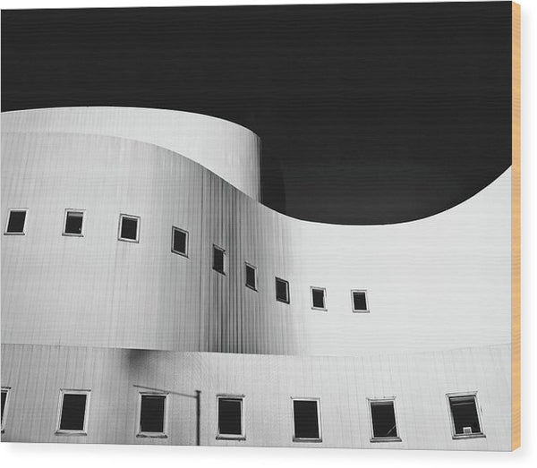 Curved Building Architecture - Wood Print from Wallasso - The Wall Art Superstore